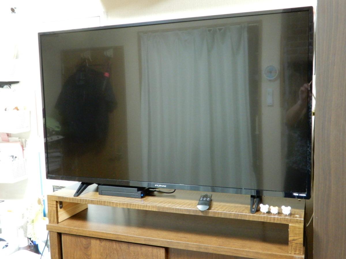 手作りテレビボード 仕上がり