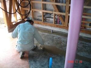 給排水管埋め立て