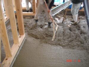 土間コンクリート工事